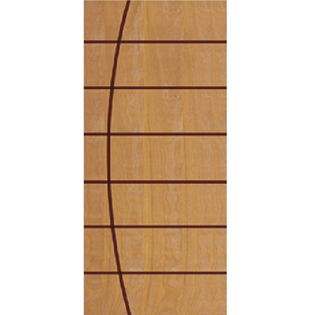 Porta 2,10 x 0,90m em Madeira Curupixa Semi Sólida Modelo 14 Frisada JB Paes