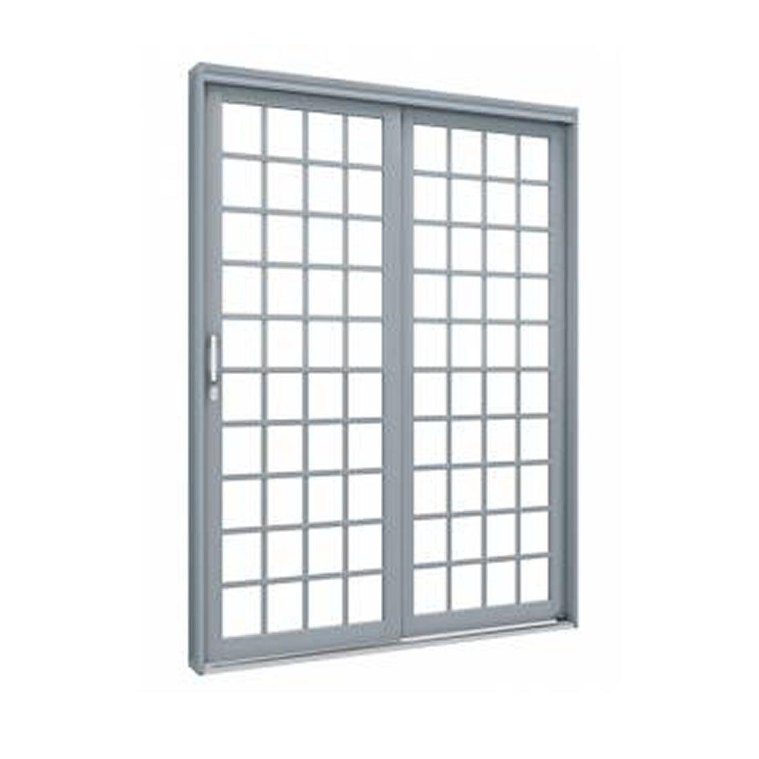 Porta de Correr Lateral Lucasa de Aço Quadrada Esquerda 213x1.60 Ref 1082.1