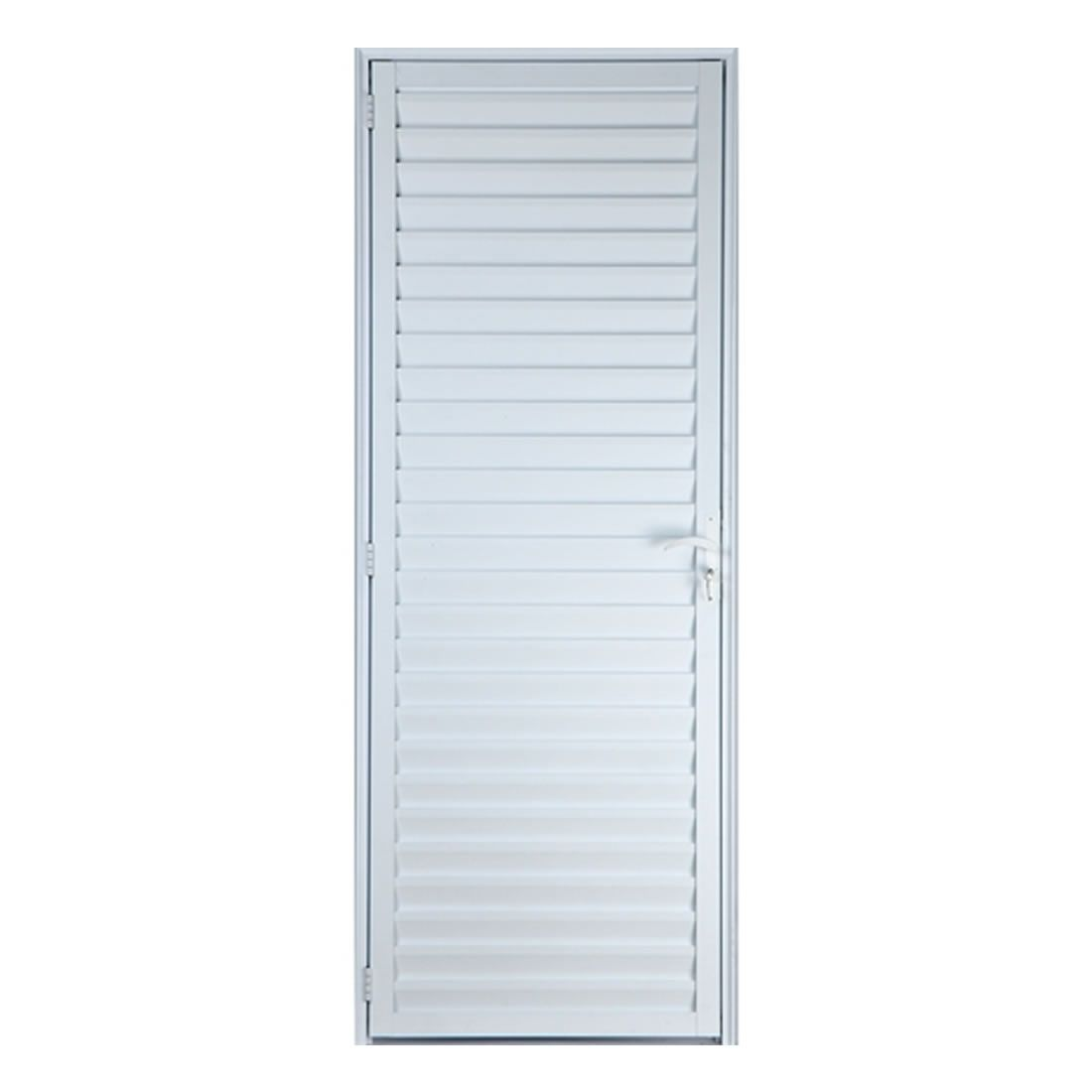 Porta Veneziana Lider 210 x 96 Direita Aluminío Branca