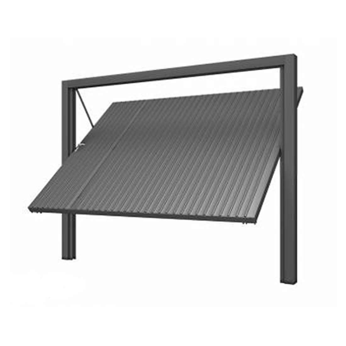 Portão Lucasa Contrapeso de Aço Chapa Frisada 220 X 285 Ref 4002.2