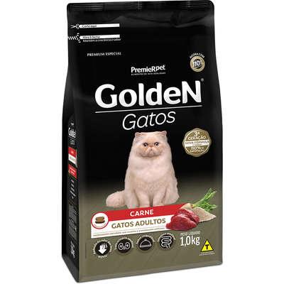 Ração Golden Gatos Adultos Sabor Carne 1,0kg
