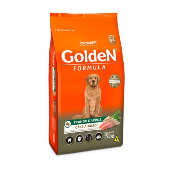 Ração Premier Golden Fórmula Cães Adultos Frango e Arroz 15Kg