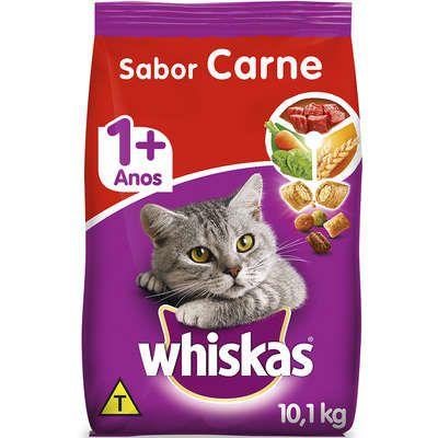 Ração Whiskas Dry 10,1Kg Adulto Carne