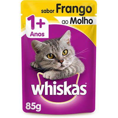 Ração Whiskas Sache 85g Adulto Frango