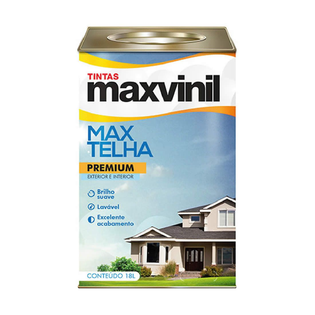 Resina Maxvinil Max Telha Base Água Branco 18 Litros