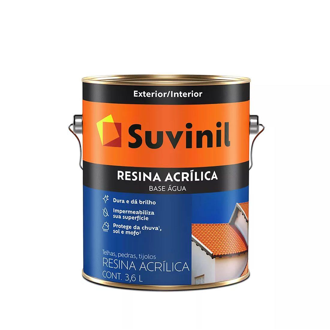 Resina Suvinil Base Água Cerâmica Onix 3,6 Litros