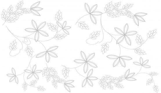 Revestimento Embramaco 33 x 57 Flower Blanco Brilhante Ref: 52/1144