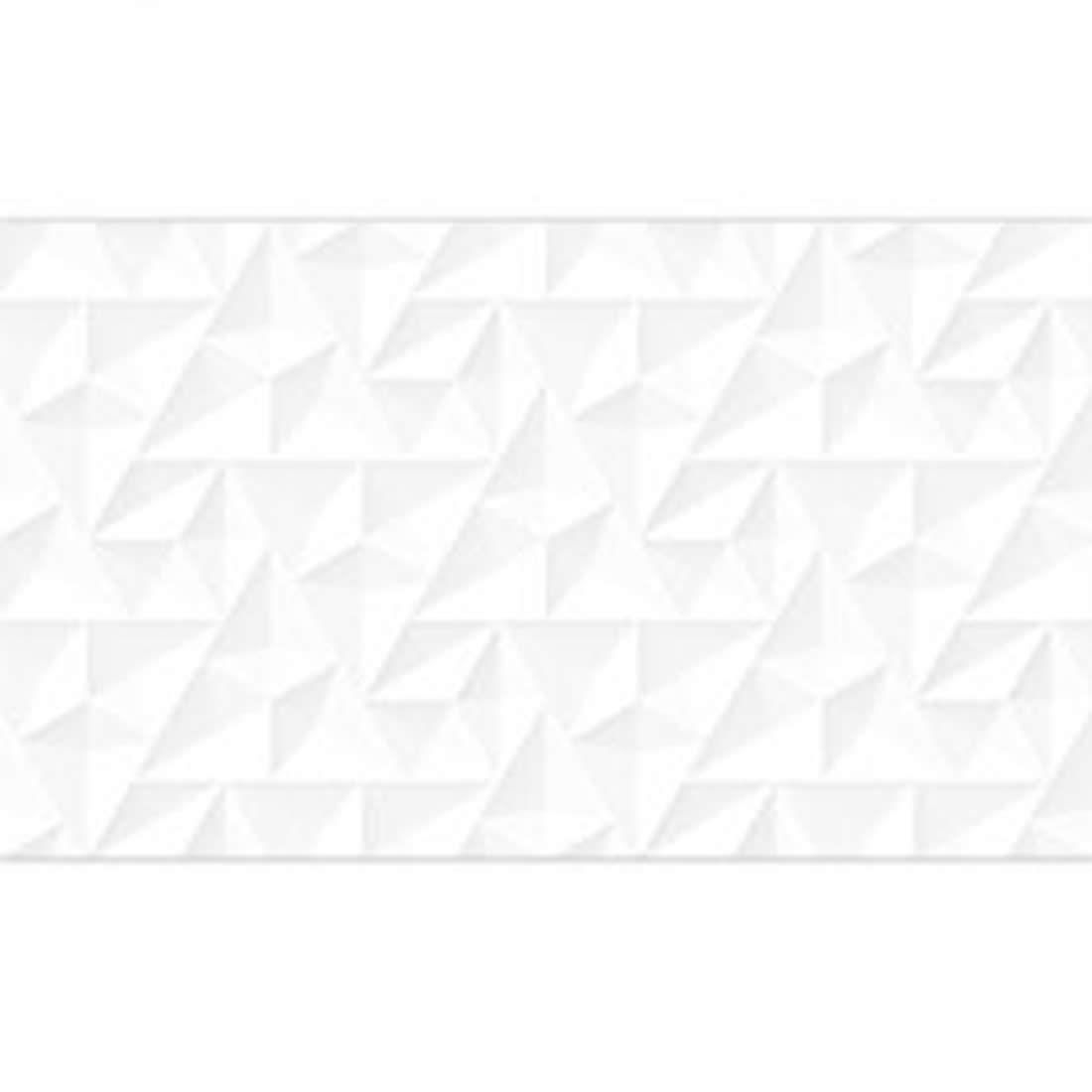Revestimento Embramaco 33 x 57 Prisma White Brilhante Ref  HD52106