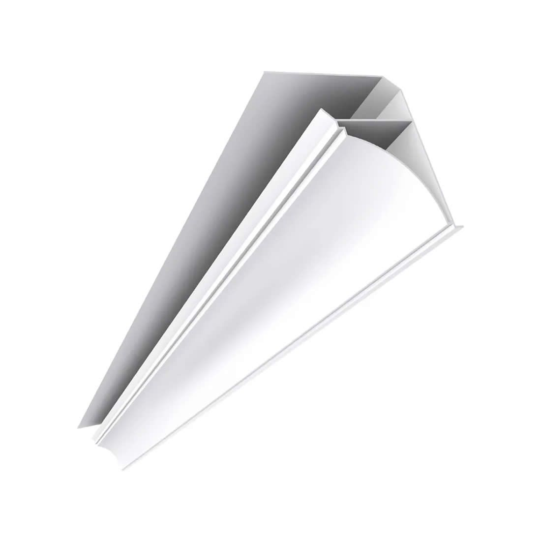 Roda Forro PVC Tipo Colonial Branco Mais PVC Peças com 6,00mts