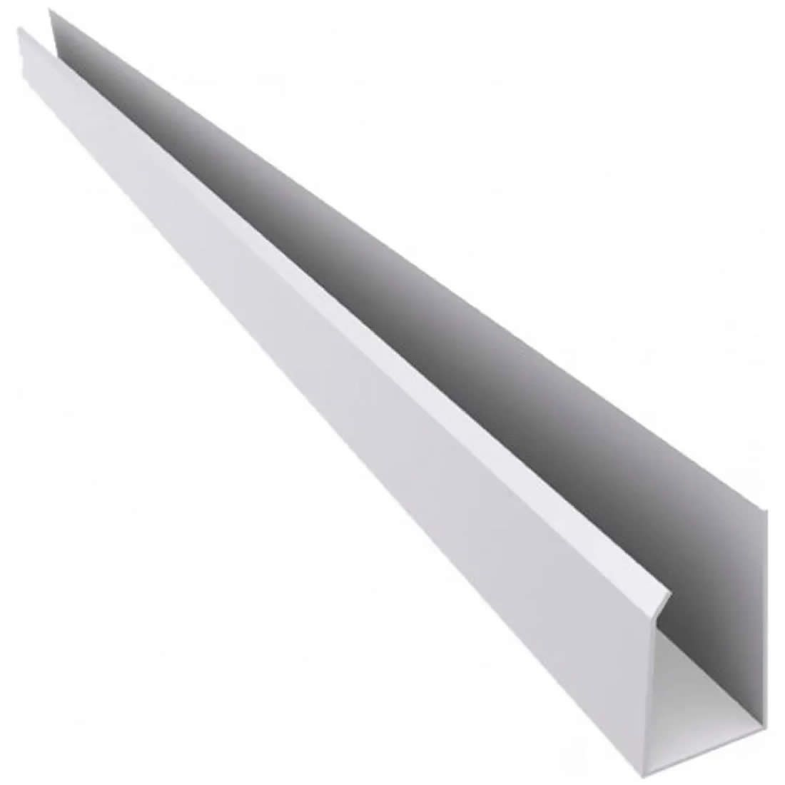 "Roda Forro PVC Tipo ""U"" Branco Mais PVC Peças com 6,00mts"