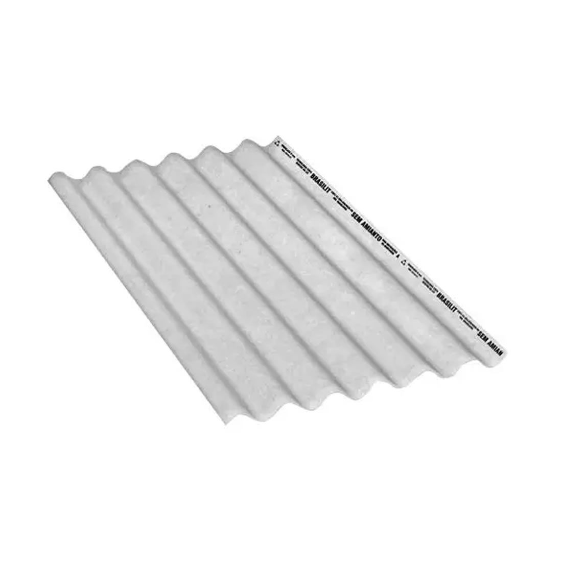 Telha de Fibrocimento Ondulada CRFS Cinza 2,13x1,10mx5mm Brasilit