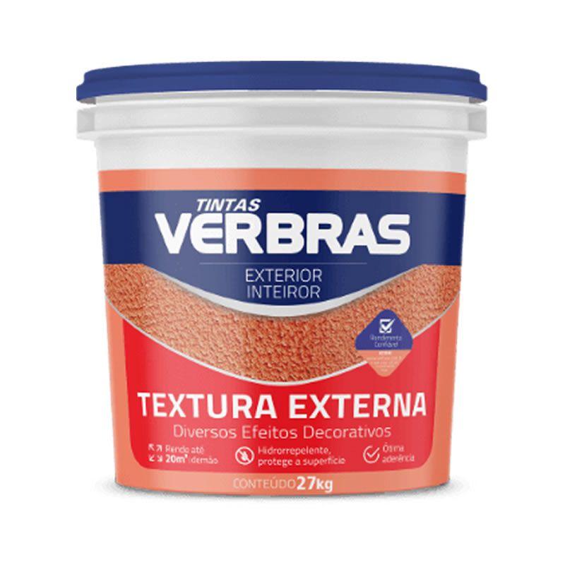 Textura Acrílica Lisa Interna e Externa Verbras Marfim 27 Kg
