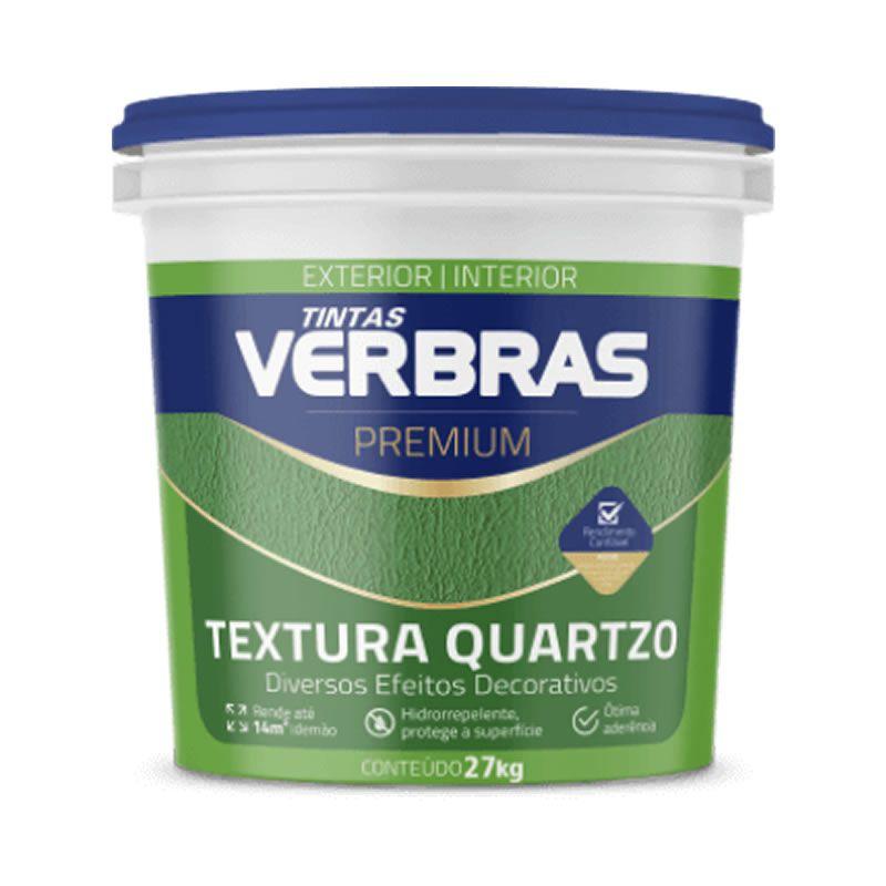 Textura com Quartzo Interno Externo Verbras Premium Branco Neve 30 Kg
