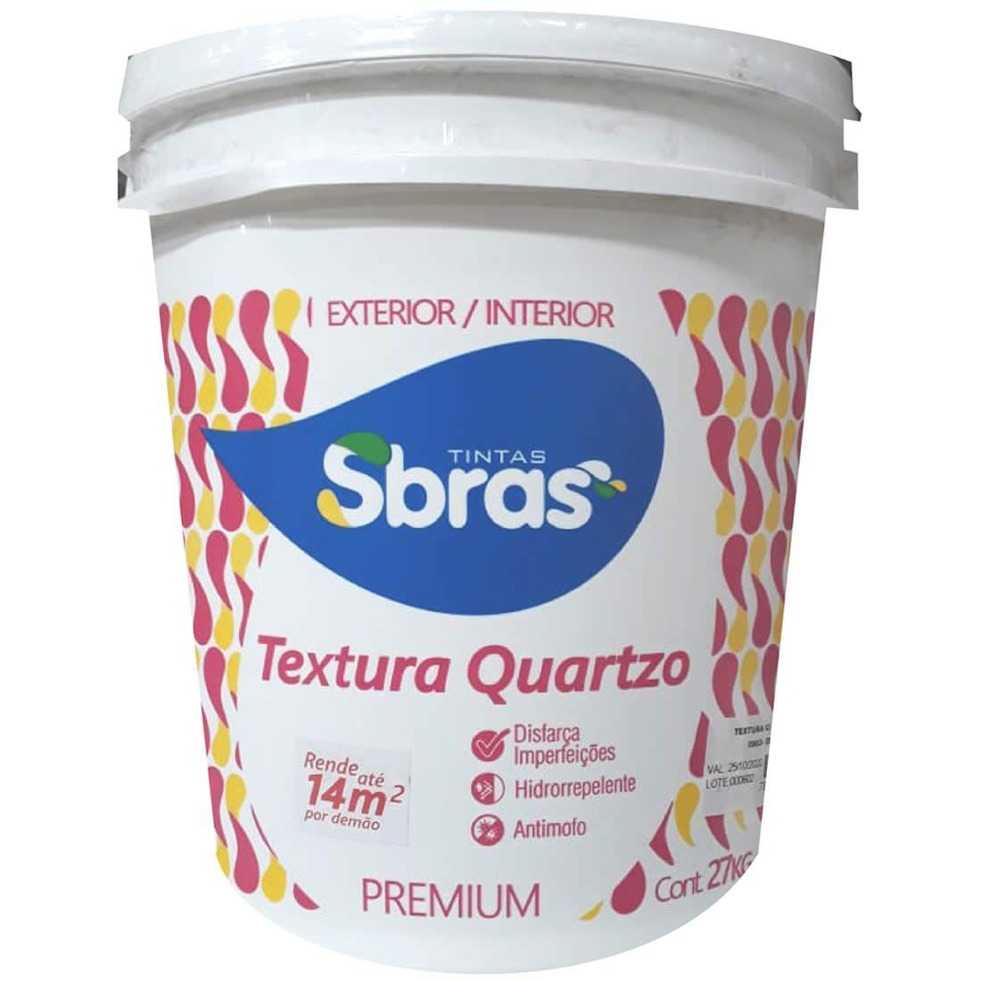 Textura Com Quartzo Sbras Concreto 27kg