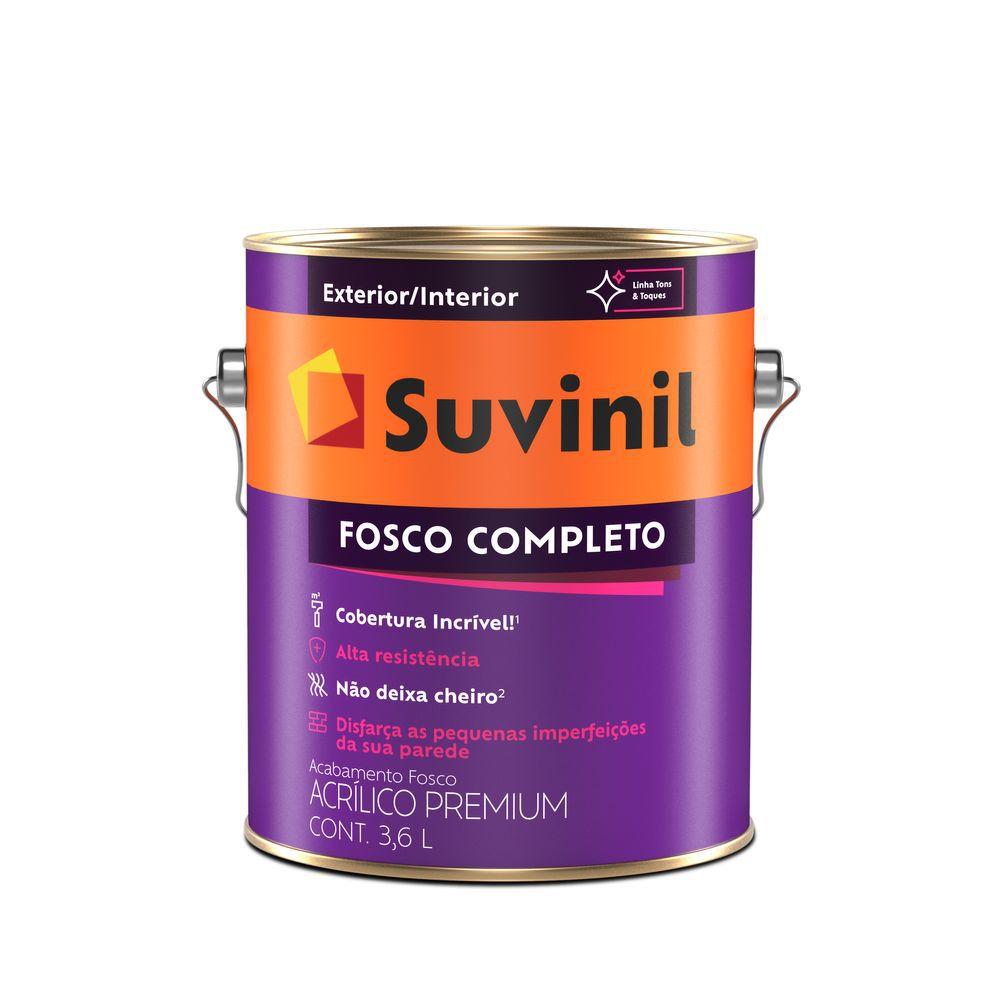 Tinta Acrílica Suvinil Fosco Completo Premium Branco Neve 3,6LT