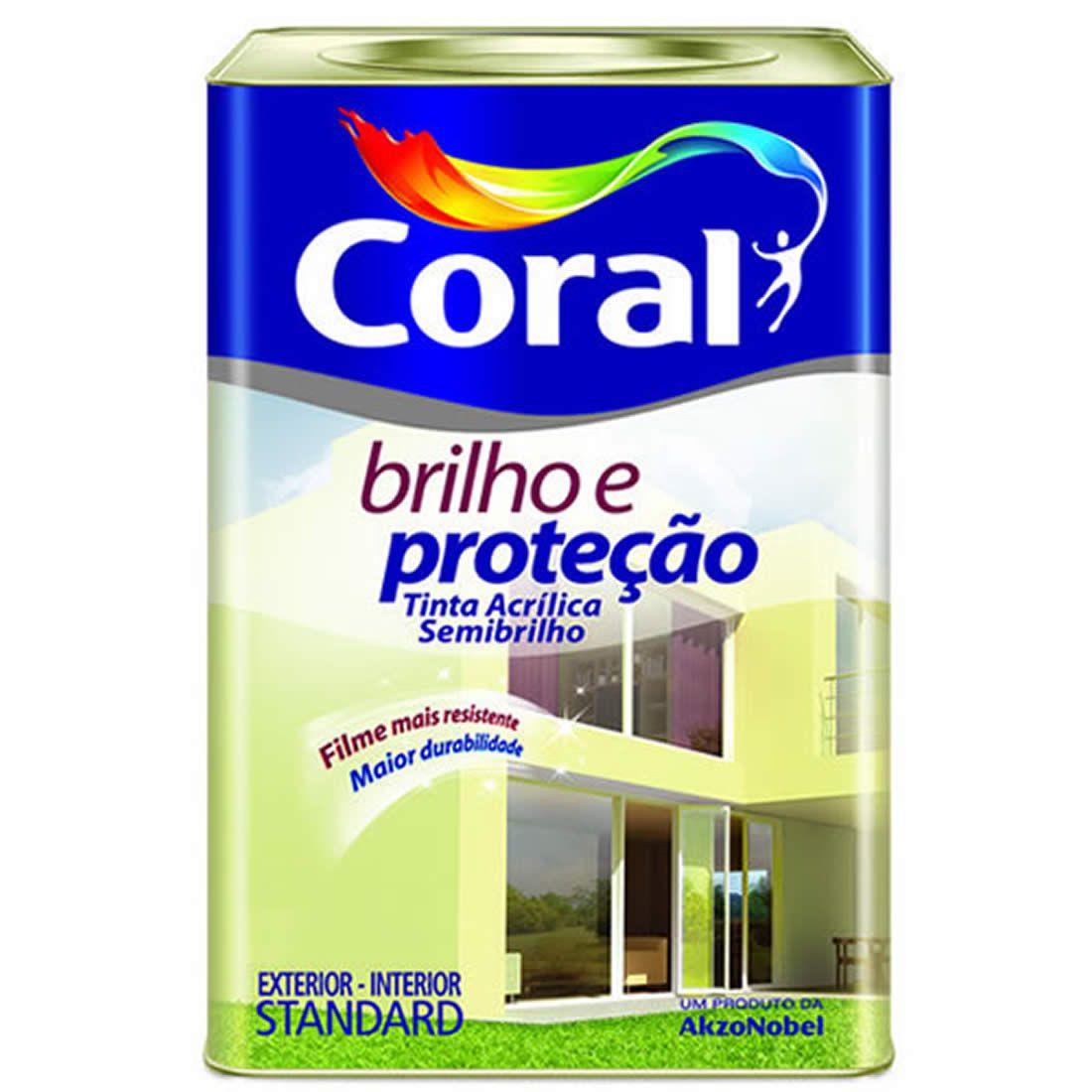 Tinta Coral Brilho e Proteção Acrílico Semi-Brilho Branco 18 Litros