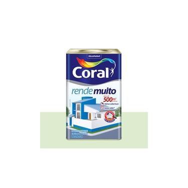 Tinta Coral Rende Muito Fosco Branco Neve 18 Litros