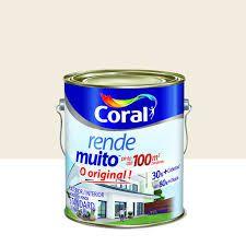 Tinta Coral Rende Muito Fosco Branco Neve 3,6 Litros