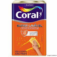 Tinta Coral Super Lavável Fosco Branco 18 Litros