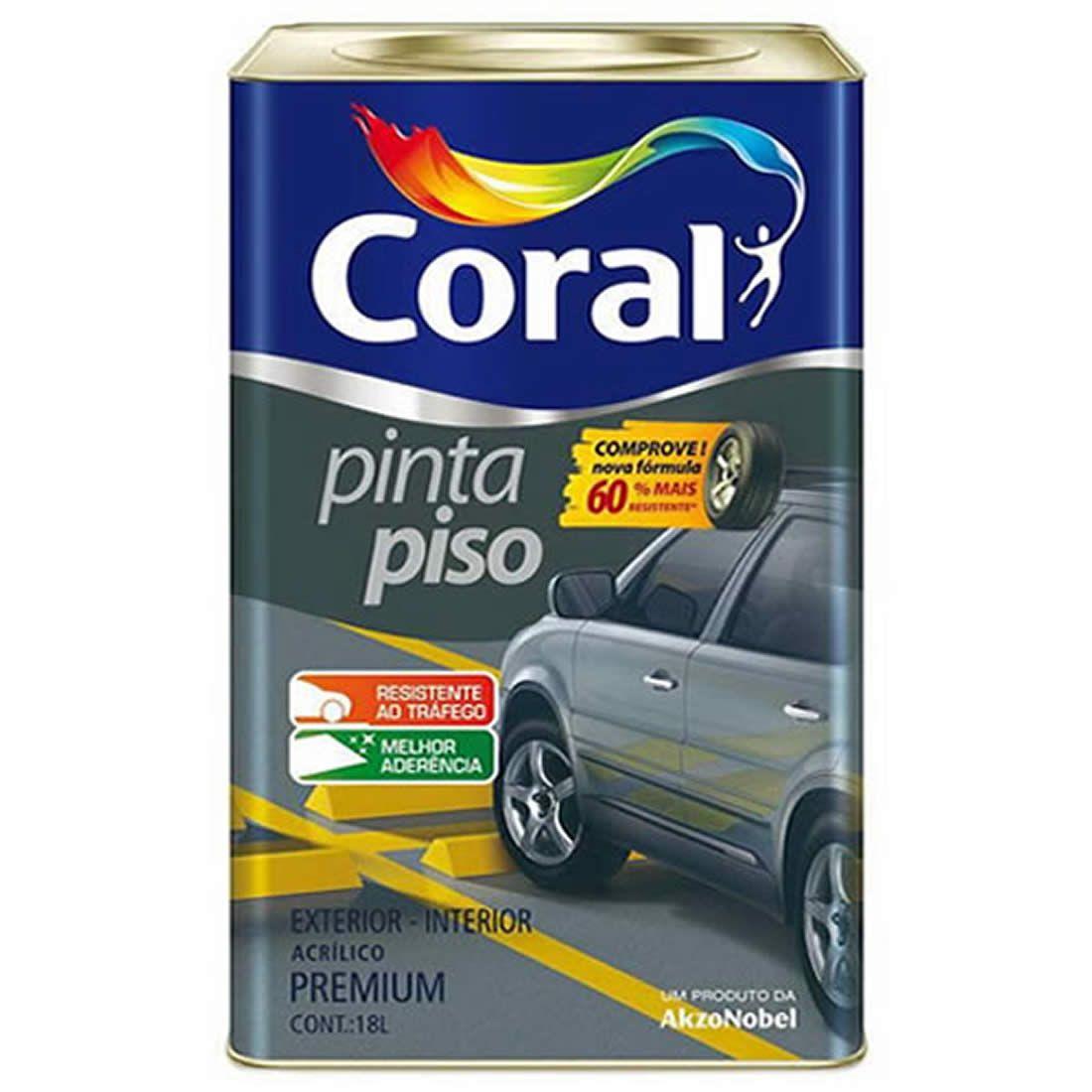 Tinta Piso Coral Cinza Médio 18 Litros