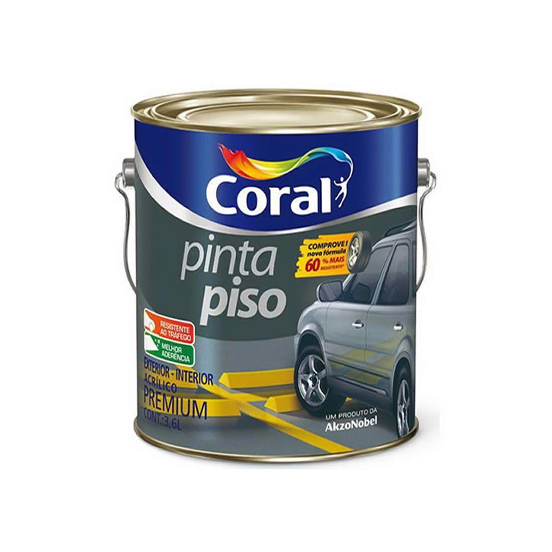 Tinta Piso Coral Cinza Médio 3,6 Litros