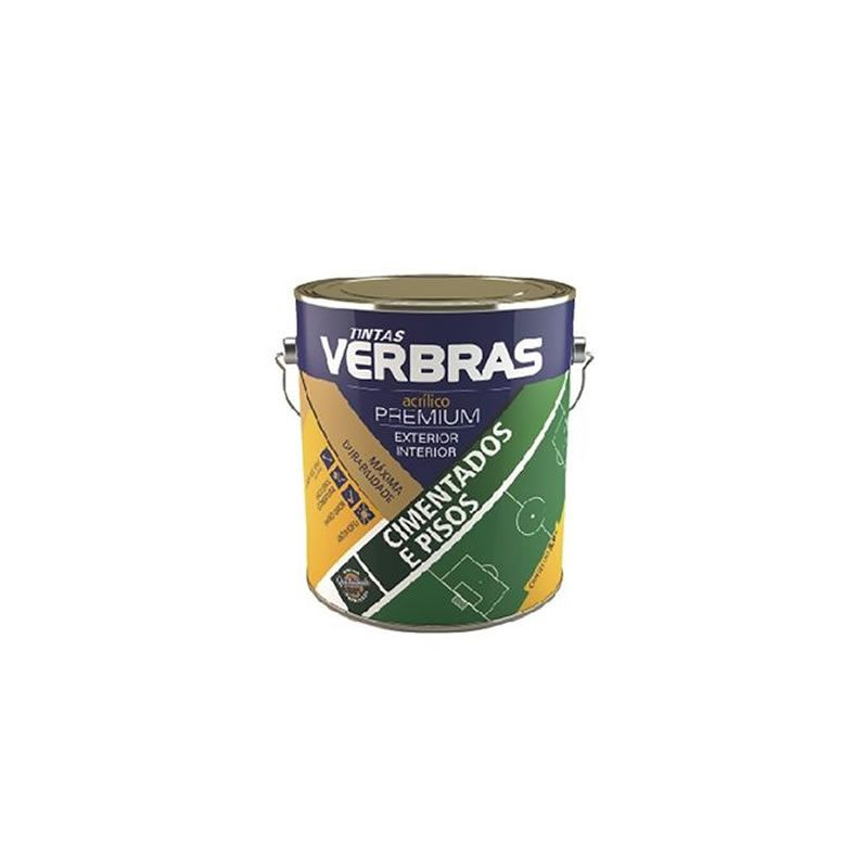 Tinta Piso Verbras Fosco Amarelo Demarcação 3,6 Litros