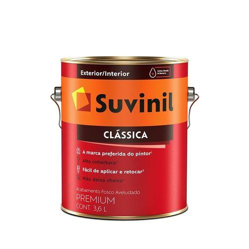 Tinta Suvinil Acrílica Clássica Premium Fosco 3,6 Litros - Branco Neve