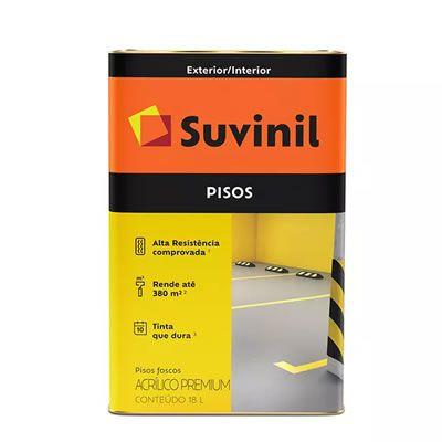 Tinta Suvinil Acrílica Para Piso Amarelo Demarcação 18 Litros