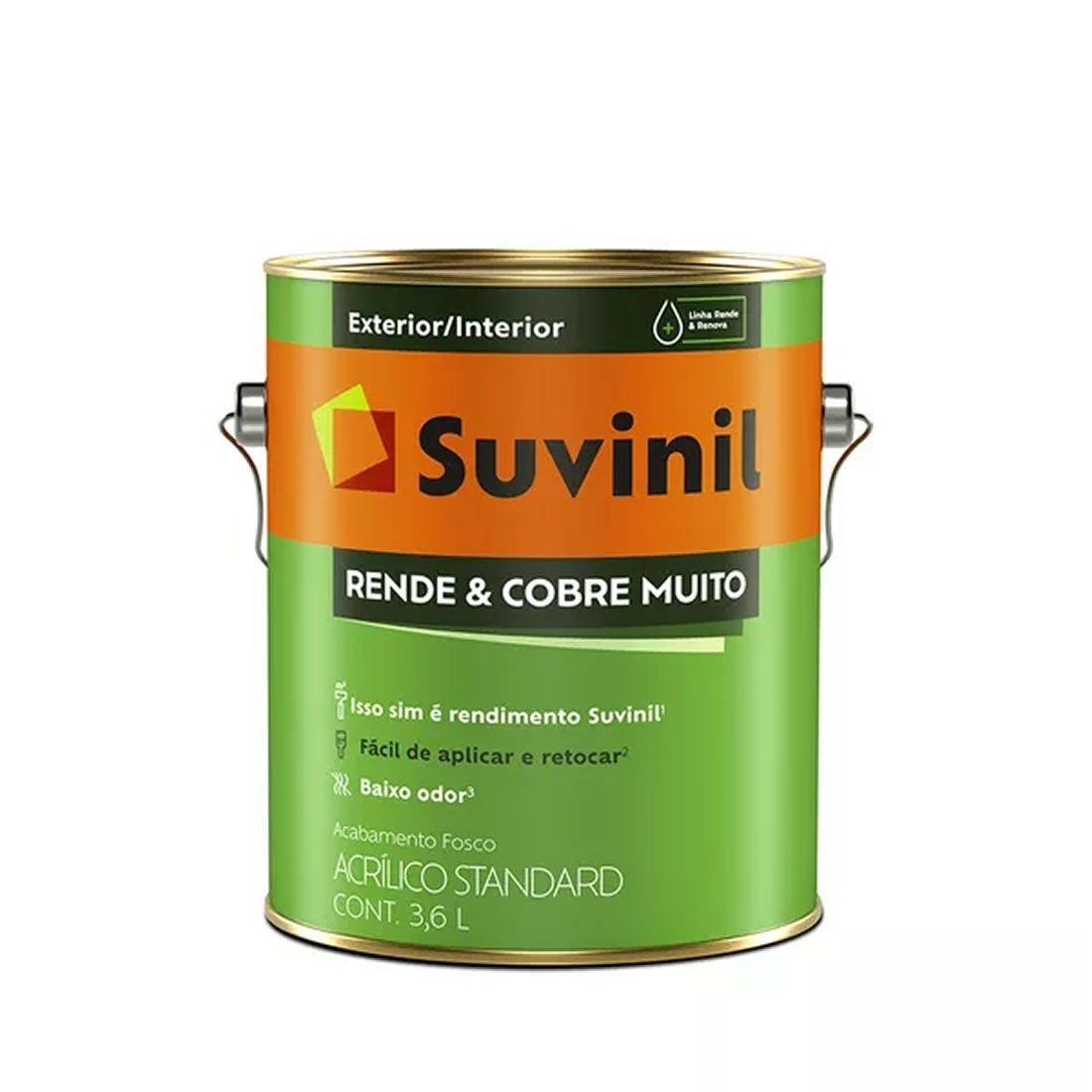 Tinta Suvinil Acrílica Standard Rende & Cobre Muito Areia 3,6 Litros