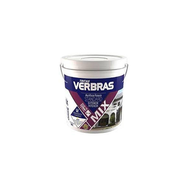 Tinta Verbras Acrílica Mix Standard Fosco Cromo Suave Galão Plástico 3,6 Litros