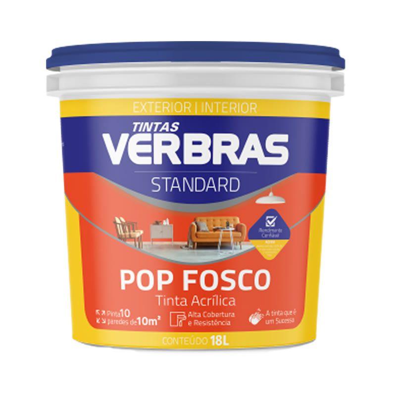 Tinta Verbras Pop Acrílico Standard Fosco Geada Balde Plástico 18 Litros