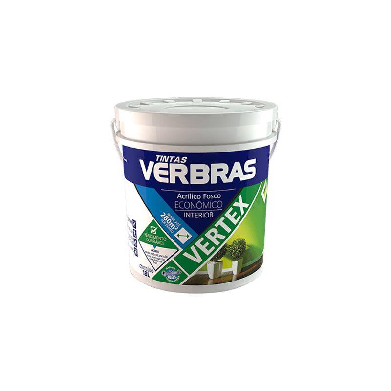 Tinta Verbras Vertex Acrílico Fosco Branco Gelo Galão Plástico 3,6 Litros