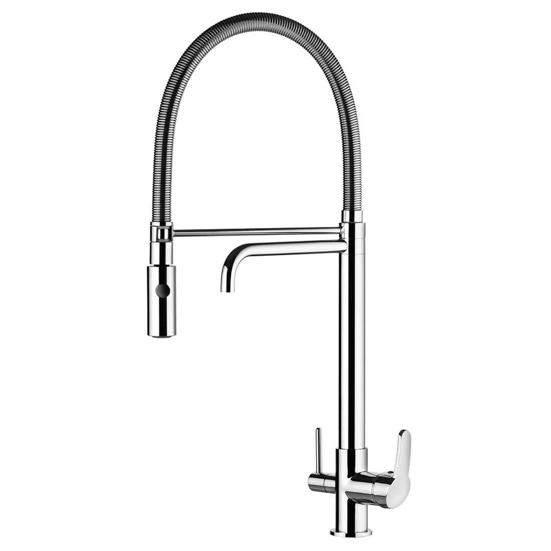 Torneira Misturador Monocomando Para Cozinha De Mesa Com Ducha Especial e Saída Para Água Filtrada Ref 2264 C76