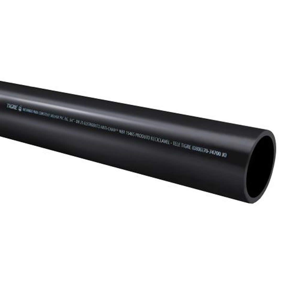 Tubo Eletroduto Soldável Antichama 50mm X 3 Metros Tigre