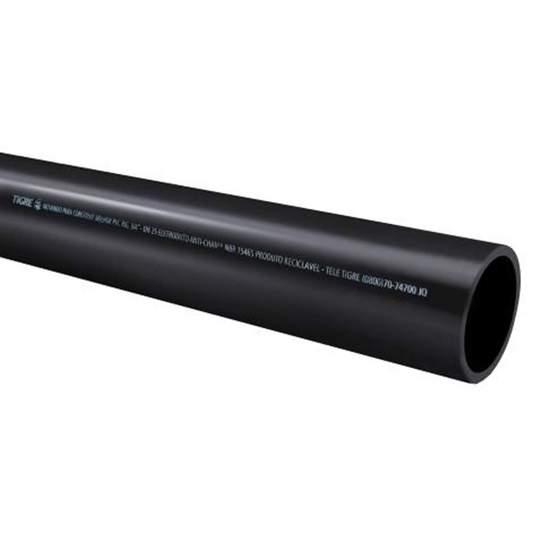 Tubo Eletroduto Soldável Antichama 60mm X 3 Metros Tigre