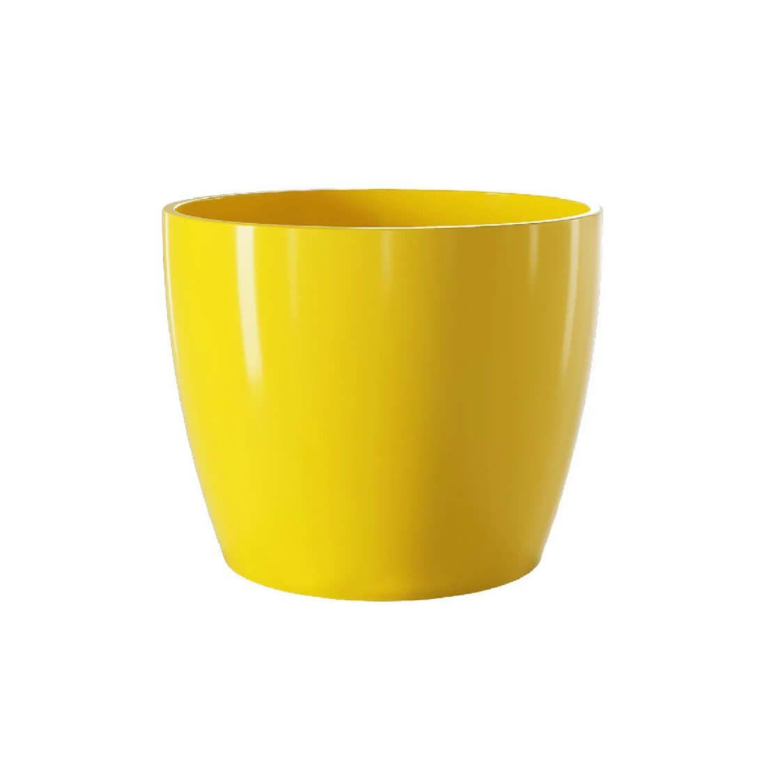 Vaso Para Planta Cerâmico Munique Amarelo 16 - Japi
