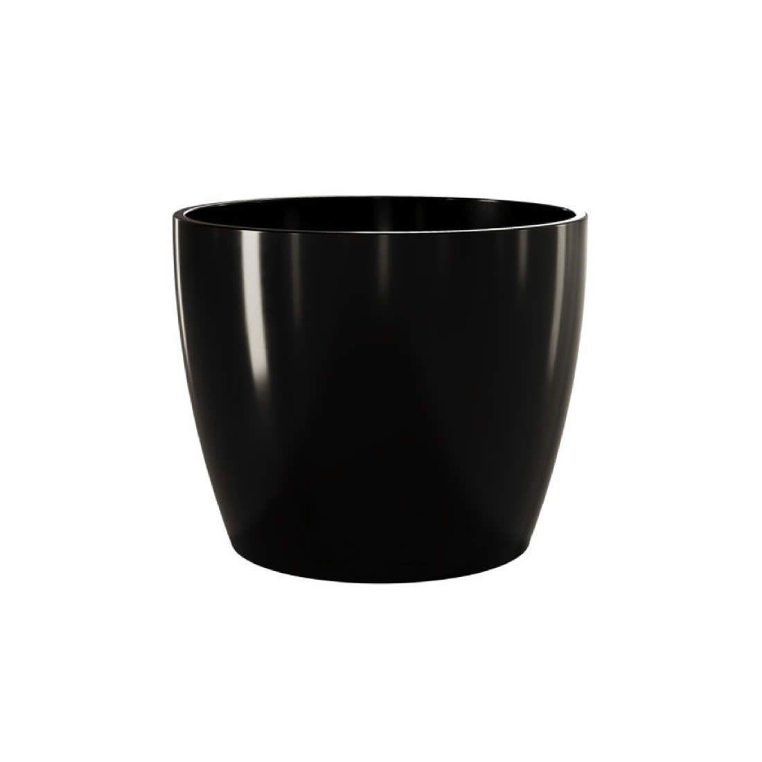 Vaso Para Planta Cerâmico Munique Preto 16 - Japi