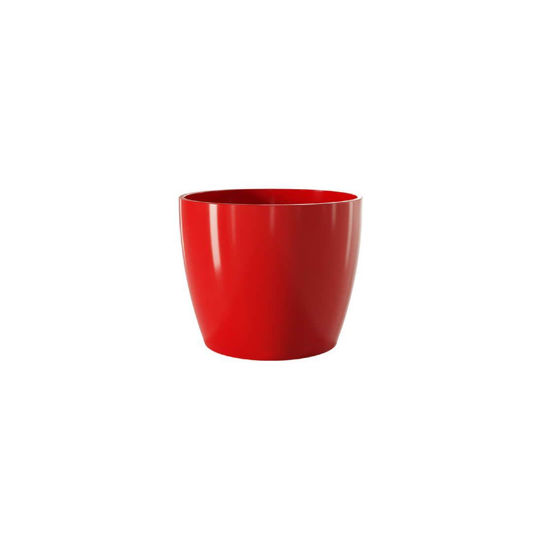 Vaso Para Planta Cerâmico Munique Vermelho 11 - Japi