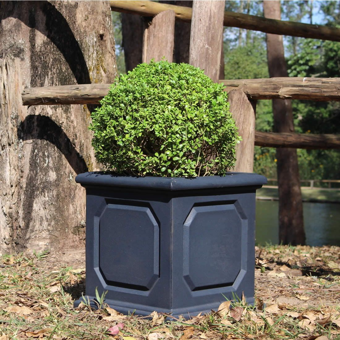 Vaso Para Planta Classi Versailles Cubo Cimento - Japi