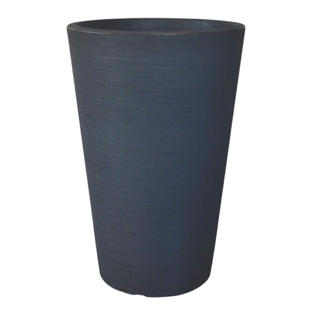 Vaso Para Planta Cônico Linea 50 Chumbo - Japi