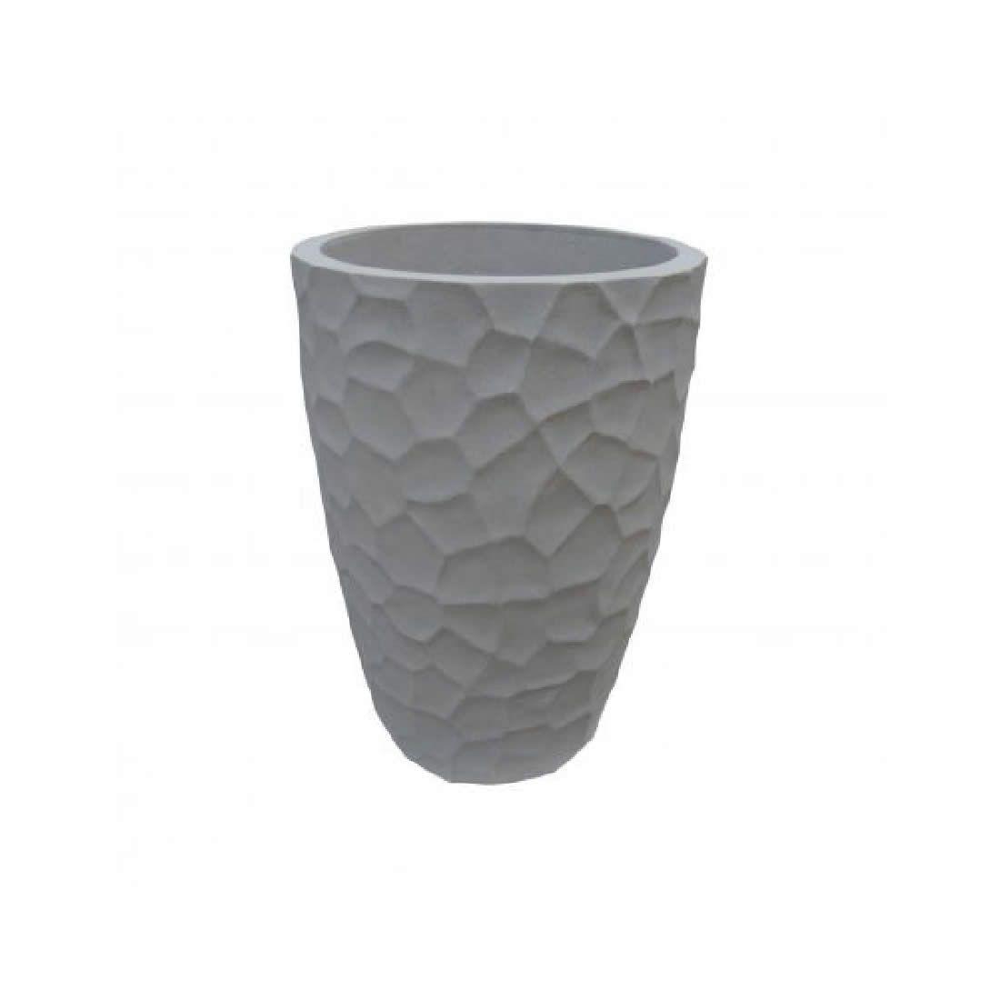 Vaso Para Planta Cônico Prisma 41 Marmore - Japi