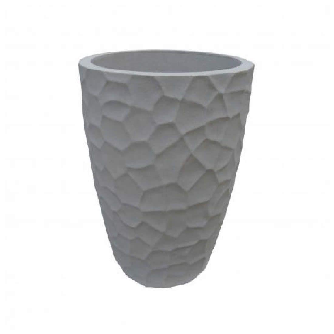 Vaso Para Planta Cônico Prisma 53 Marmore - Japi