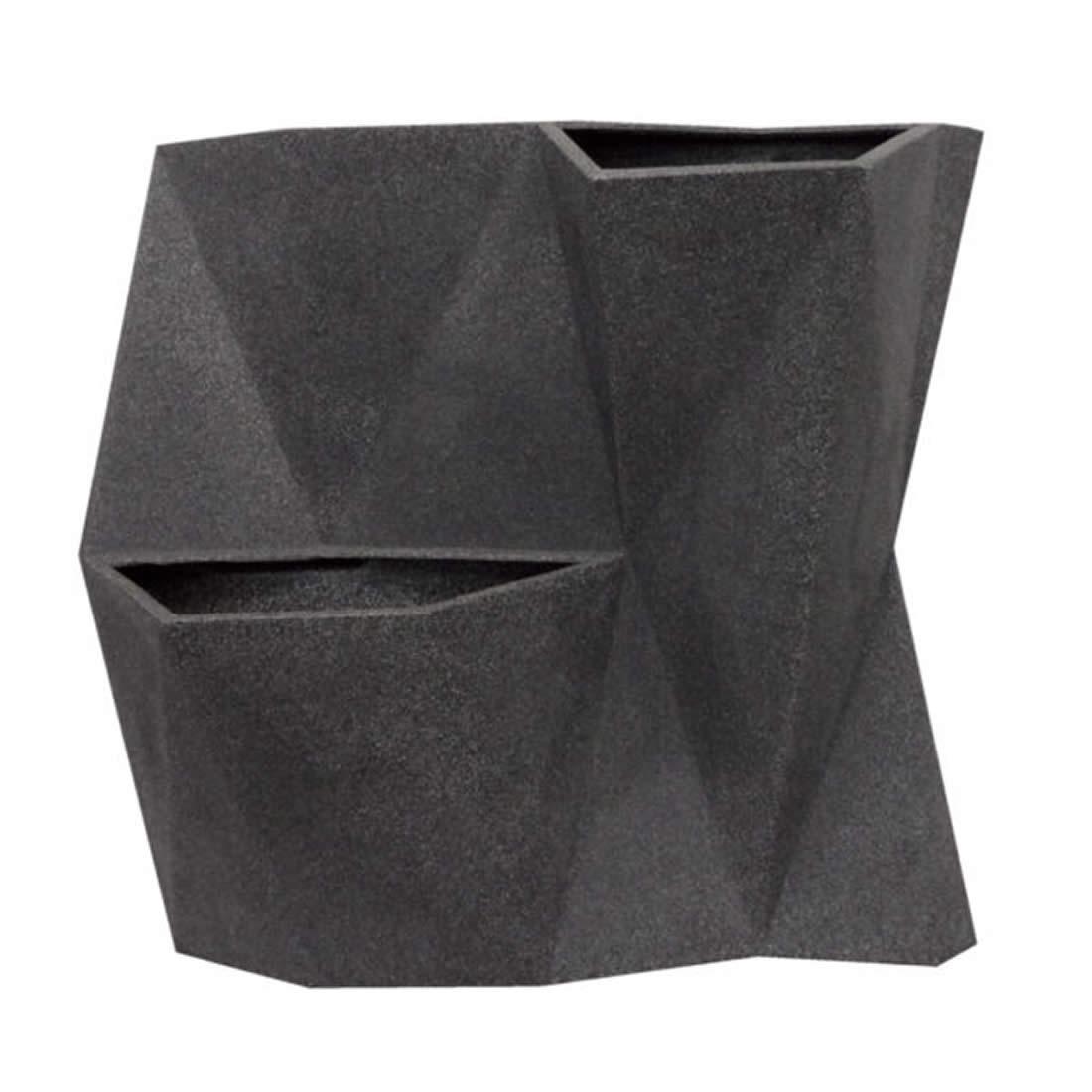 Vaso Para Planta Parede Angolo 50 Grrafite - Japi