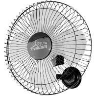 Ventilador de Parede 50cm Premium Preto Venti-Delta