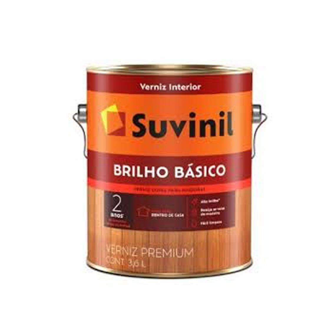 Verniz Suvinil Brilho Básico Natural 3,6 LItros