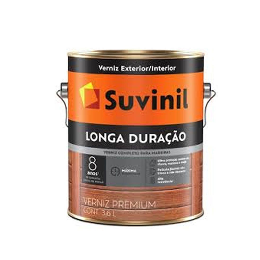 Verniz Suvinil Longa Duração Natural Brilhante 3,6 Litros