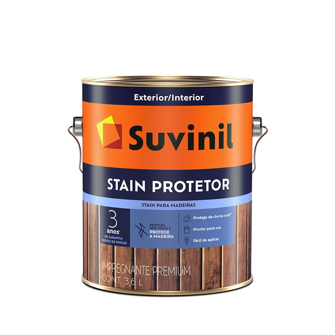 Verniz Suvinil Stain Protetor Natural Brilhante 3,6 Litros