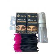 Kit 5 itens Henna e Acessórios para design de Sobrancelha