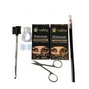 Kit 6 itens Henna e acessórios para design de Sobrancelha
