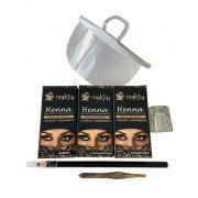 Kit 7 itens Henna e acessórios para design de Sobrancelha